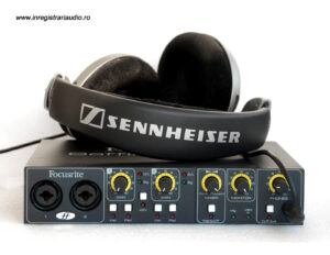 inregistrari audio placa sunet interfata audio casti sennheiser focusrite MIDI USB