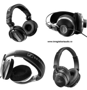 inregistrari audio sennheiser casti  akg audio-technica