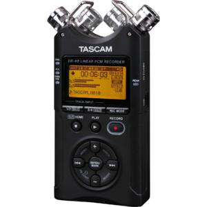 Tascam DR-40 fata inregistrari audio 4 canale microfon condensator