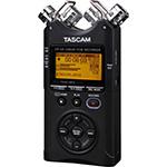 Tascam DR-40 fata inregistrari audio 4 canale microfon condensator mica