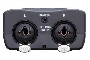 Tascam-DR 40 partea de jos mufe combo xlr jack inregistrari audio