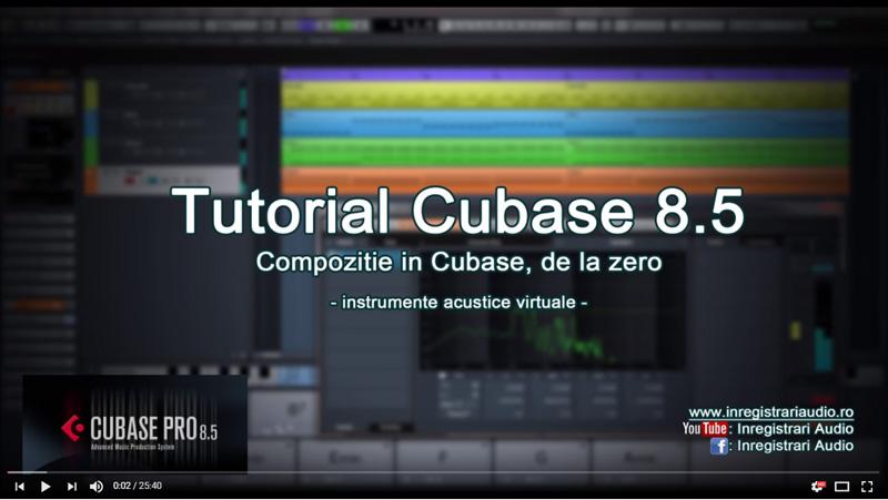 Tutorial compozitie Cubase instrumente virtuale acustice