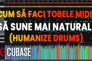 Cum să faci tobele MIDI să sune mai natural (humanize drums) drummer tobosar roboticecubase drum editor velocitate quantizare grid tobe virtuale instrumente muzicale